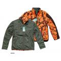 Μπουφάν Fleece Διπλής Όψης (Χακί – Παραλλαγή Πορτοκαλί)