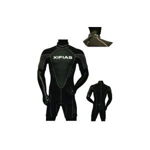 Στολή Κατάδυσης Xifias Φερμουαρ πισω  Monoshorts Neoprene Black 2.50mm